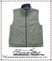 Sunnytex Customised LOGO Printing Embroidery Mens Winter Polar Fleece Vest