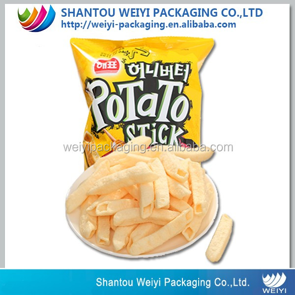 custom made recycled plastic air tight packaging pouch for chips