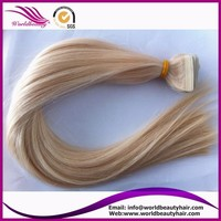 Double drawn European Remy Tape Hair Extension 40pcs