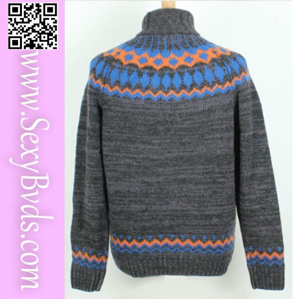 Wholesale Adult Turtleneck Jacquard Christmas Sweater Knitting Patterns - Buy...