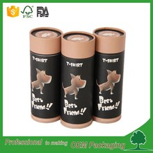 hot sale safty food grade material food packaging cardboard tubes paper container for food dog packaging paper tube