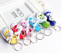 2016 fasion Custom 3d mini sport shoes keychains,Viny pvc 3d sneaker keyrings
