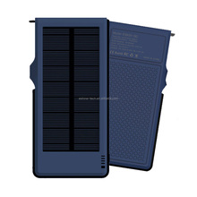 Waterproof solar mobile battery for smart phones PSP digital devices 10000mAh power bank with LED portable power supply