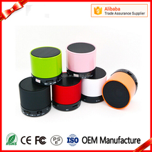 2017 customized Portable USB FM TF memory card mini bluetooth speaker