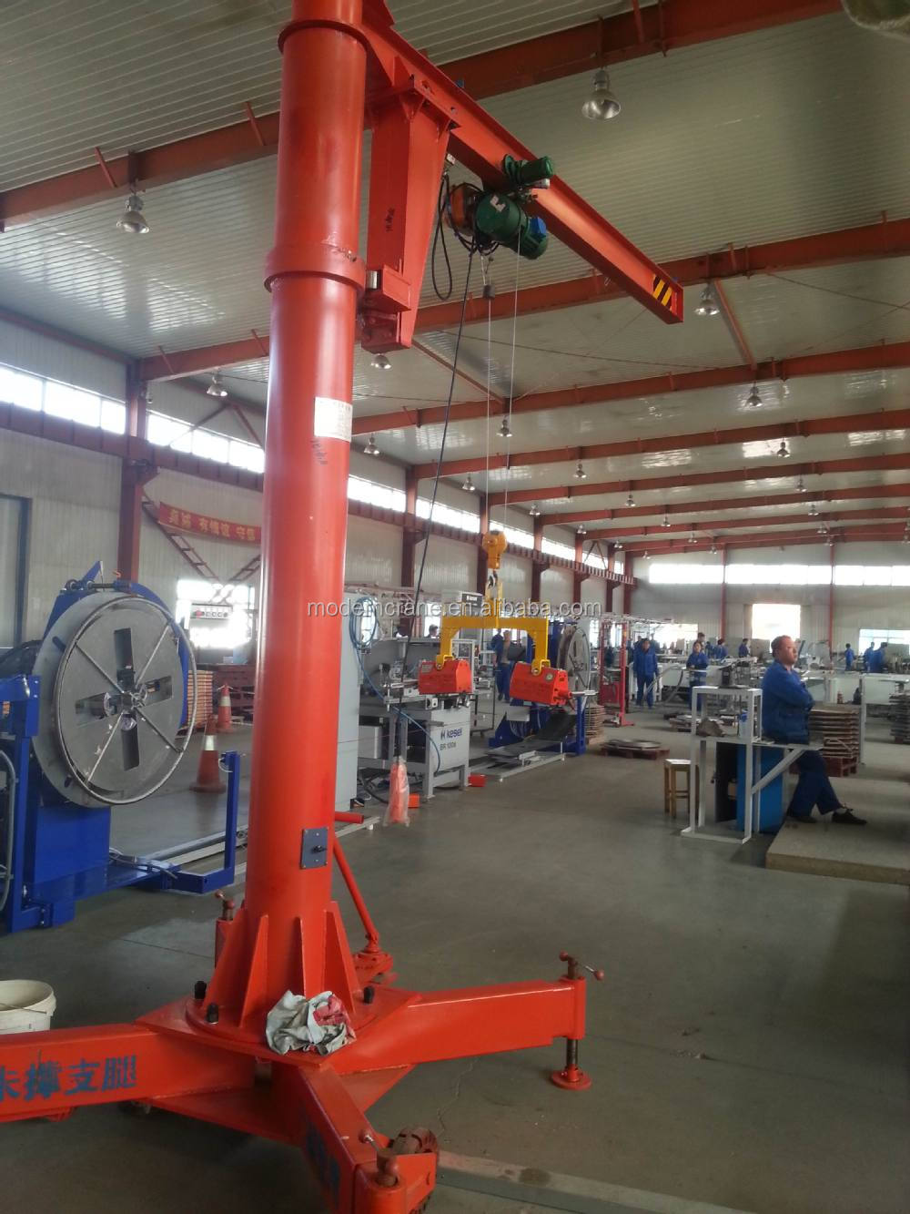 Small Jib Crane : Mobile jib crane small lift hoist