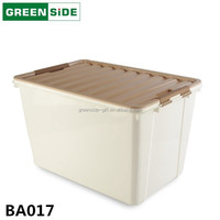 BA017 multipurpose housewares plastic storage box with lock