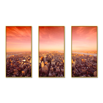 Sunrise Beautiful Cityscape Sets Painting on Canvas Art Picture
