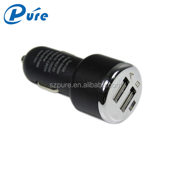 2016 promotional tablet mobile accessories 2 usb car charger micro usb car charger