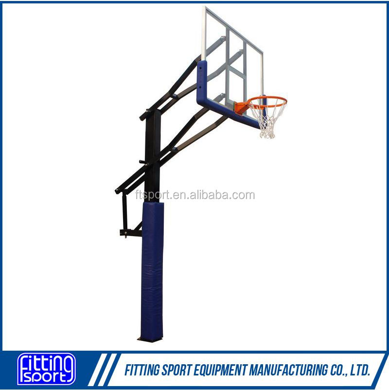Inground Adjustable Basketball Stand with 72 inch Backboard