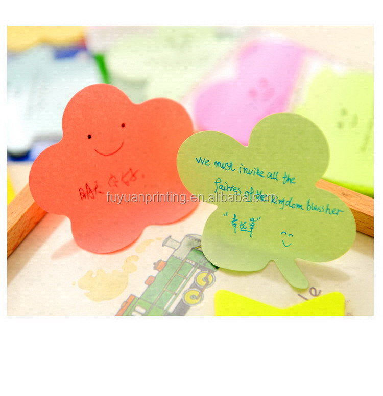 High quality hot-sale green leaf shaped sticky note pad