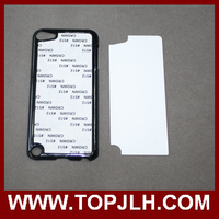 Custom Sublimation Plastic Case For iPod Touch 5 with Metal insert