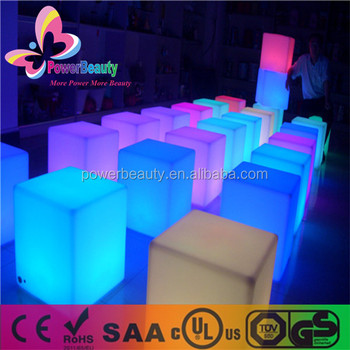 RGB LED SMD lighting outdoor colorful changing polyethylene cube 3d
