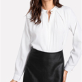 Ladies Office Wear Shirts Loose Casual Cuffed Long Sleeve Blouses