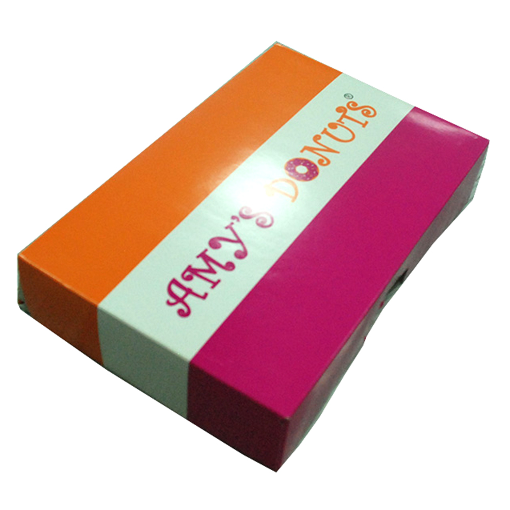 Cheap sale <strong>custom</strong> printed wholesale donut box with logo printing