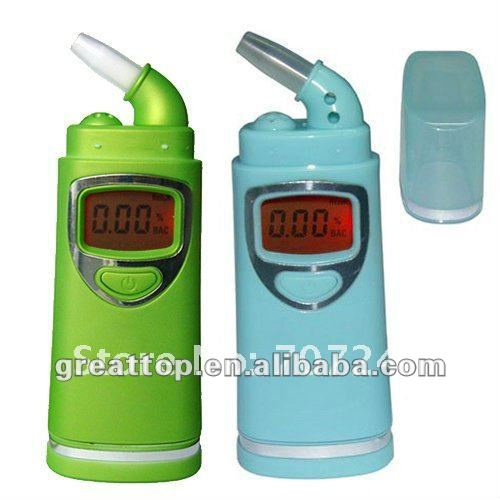 New Breathalyzer Alcohol Detector with Red Backlight LCD & 4pc Rotatable mouthpiece
