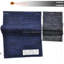 Navy wool polyester cotton knitted fabric wholesale