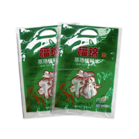 Custom plastic slide zipper hot chicken bags/ roasted chicken plastic packaging bag with anti fog