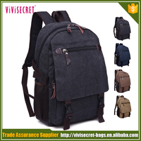 Black mountain backpack canvas day backpack school bag for youth