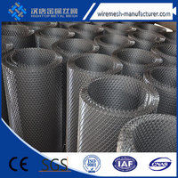 flattened expanded metal sizes/flattened type expanded mesh/flattened expanded sheet