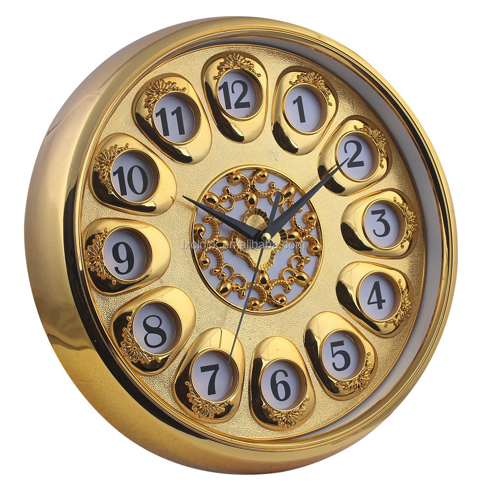 Ornaments wall clock for home decorative