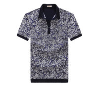 mens latest design 100%cotton softtextile red pattern polo t shirt two colors