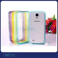TPU+PC silicone case for samsung galaxy s4 mini with dust plug