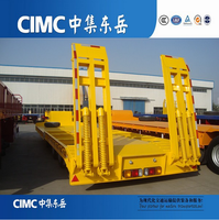 CIMC Best Selling Truck Trailer Type And Steel Material Tri-axle Heavy Duty Equipment Transporter Semi Low Bed Trailer For Sale