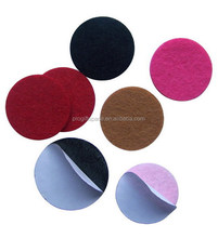 "2018 high quality hot sell 1.5"" multi color strong self adhesive polyester felt circle sticker for scrapbooking DIY craft OEM"