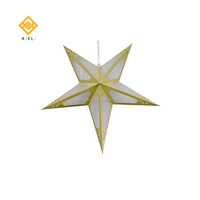 2019 New Star Decorations Handmade Paper Hanging Lanterns Christmas Paper Star With Led Pendant Lights
