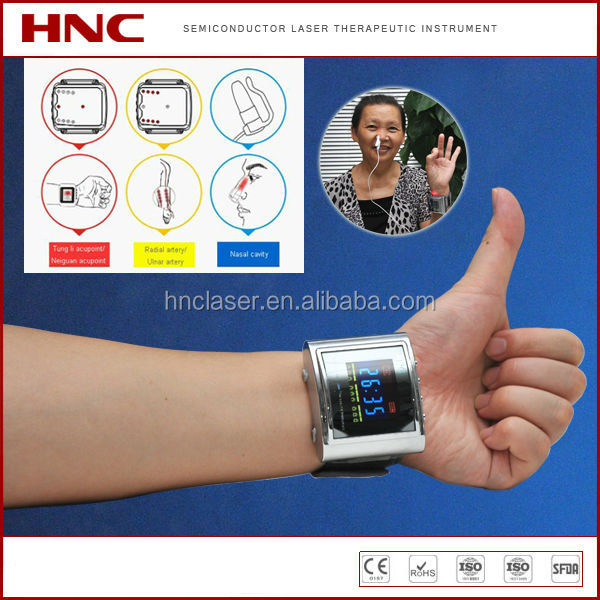 HNC medical physiotherapy wrist small therapeutic laser for blood circulation with CE,ROHS mark