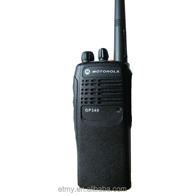 Motorola 100 mile portable VHF/UHF walkie talkie GP340 for outdoor activity using