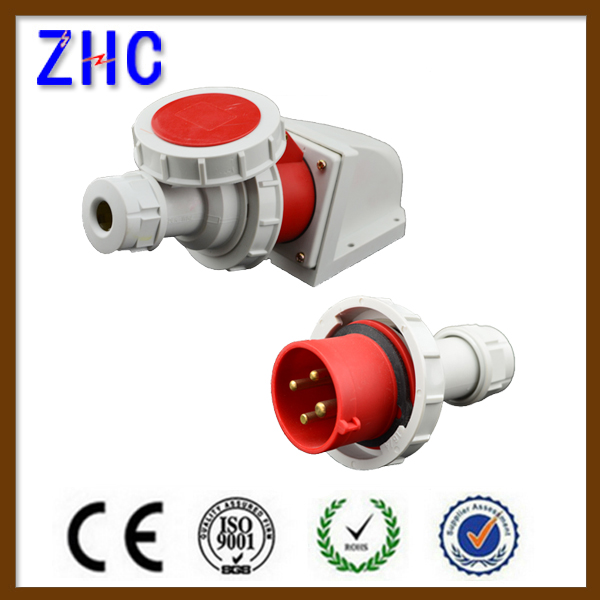 watertight mobile male and female electrical industrial plug and socket 16a 3 pin