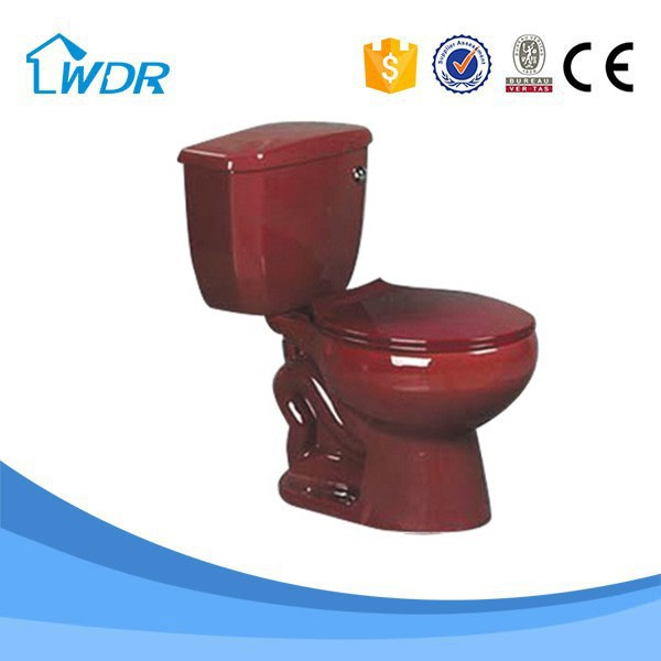 China Supplier Bathroom Design Red Porcelain Toilet W8002A