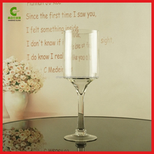 3pcs Tall long-stemmed bella candle holders/glass candle holders in different sizes