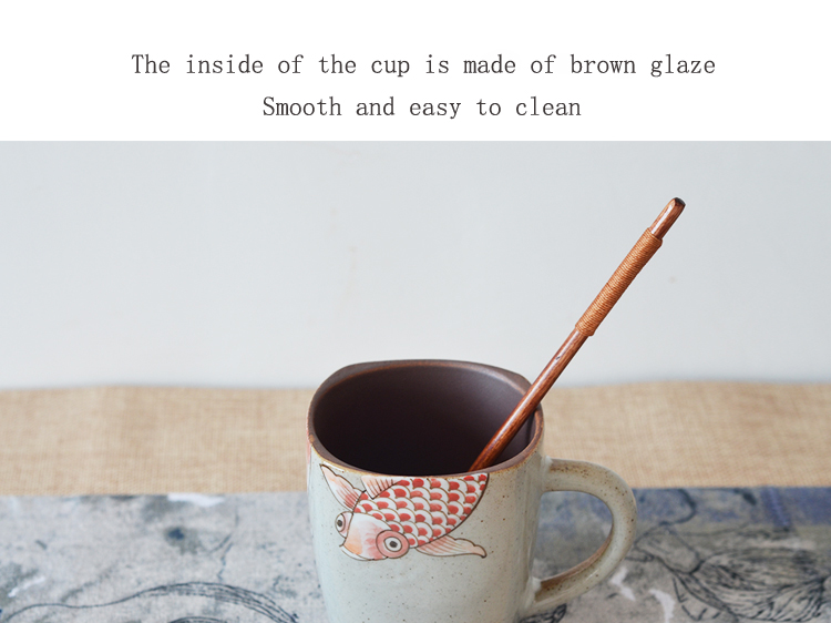 hot selling square shape fish design tea cups