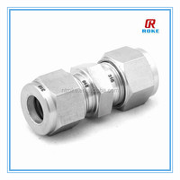 stainless steel compression fitting with double ferrule