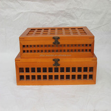 Eco-friendly wooden storaging box, multifunction paulownia wooden packaging box for clothes, tea jewelry etc