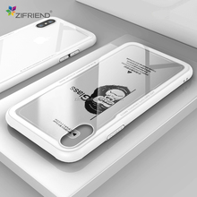 OEM brand name 360 dropshipping phone case transparent TPU + tempered glass phone case for iPhone