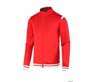 2016 newest cheap hot sell polyester red track jacket