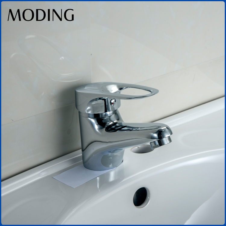 MODING 2017 Fancy Save Water Push Down Bathroom Lavatory Sink Basin Faucets
