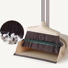 Broom and Dustpan Set /Dust Pan Standing Upright Sweep Set for Home Office Commercial Hardwood Floor Use