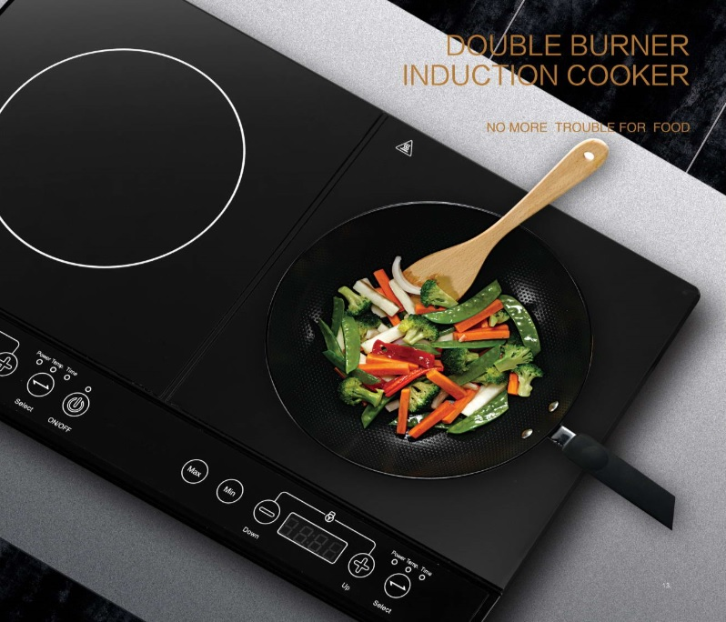 EU hot sale product double induction cooker/double infrared cooker FYM35-S08