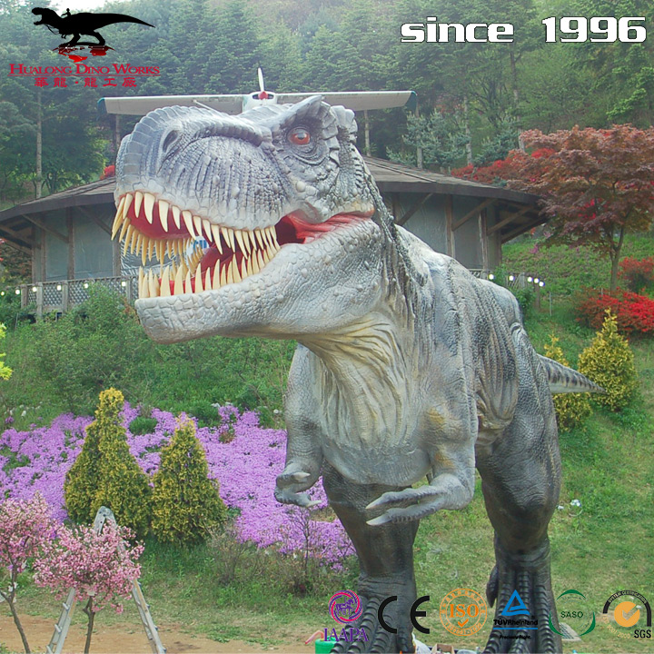 2018 new ideal show jurassic theme park mechanical dinosaur