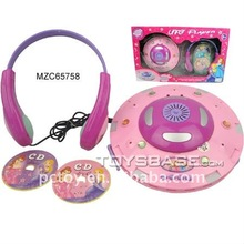 Kids musical toys CD player with 5 songs