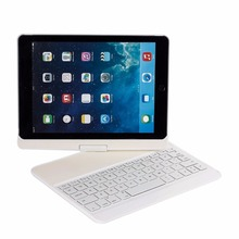 CE ROHS Smart Connector Spinner Bluetooth Keyboard Clavier Case 360 Rotating for iPad Air White