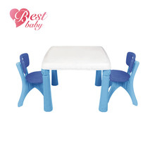 Plastic table and chairs for study and play new arrival