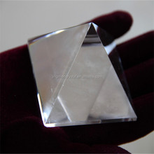 light White quartz crystal singing pyramid for healing