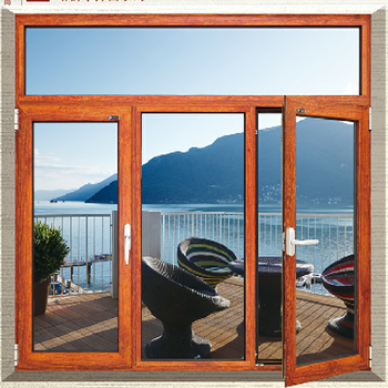 wood effect aluminium projected window casement in malaysia design by china
