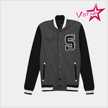 high quality college style custom baseball jacket wholesale cheap price