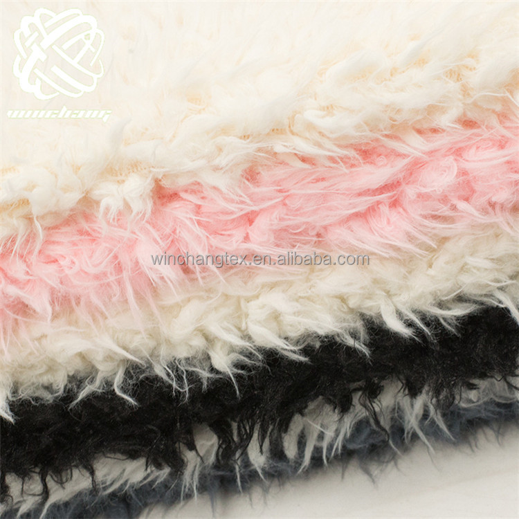 soft faux lion fur long pile sprayed plush <strong>fabric</strong>
